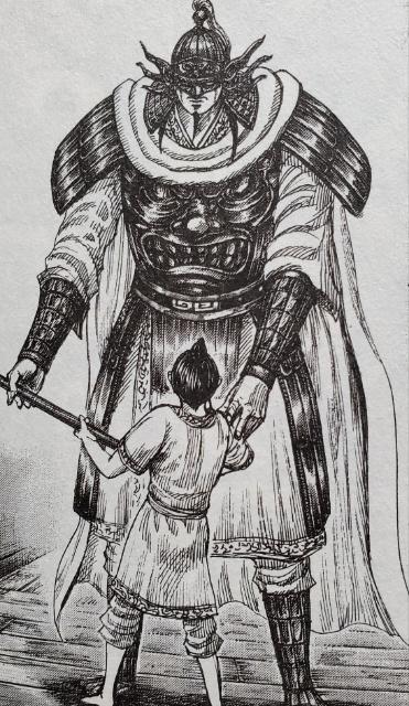 王賁に槍を教える王翦